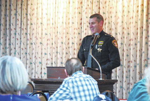 Allen County Sheriff Matt Treglia was the guest speaker at Friday's monthly luncheon sponsored by the Allen County Republican Party.