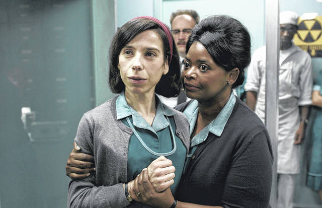 """Sally Hawkins, left, and Octavia Spencer are shown in a scene from the film """"The Shape of Water."""" On Monday, Hawkins was nominated for a Golden Globe for best actress in a motion picture drama for her role in the film. The 75th Golden Globe Awards will be held on Sunday, Jan. 7, 2018 on NBC. (Fox Searchlight Pictures via AP)"""
