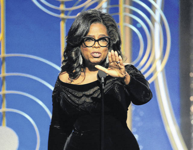 Oprah Winfrey accepts the Cecil B. DeMille Award at the 75th Annual Golden Globe Awards in Beverly Hills, Calif., on Sunday.