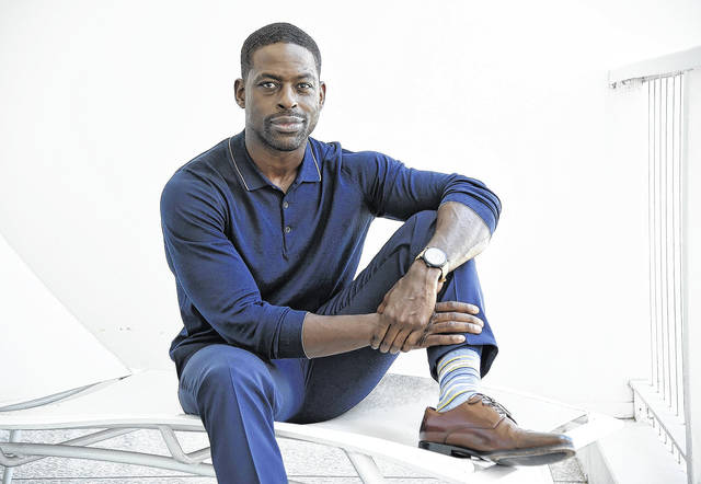 """Actor Sterling K. Brown, a cast member in the NBC series """"This Is Us,"""" poses for a portrait in Beverly Hills, Calif. Brown won a Golden Globe Award for best actor in a TV drama series for his role on the show. He is the first African-American man to win in this category."""