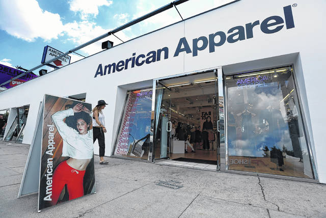American Apparel was one of several retailers to declare bankruptcy or go out of business in 2017.