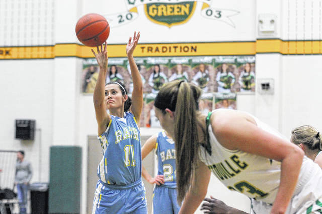 Bath's Jaidyn Hale puts up a foul shot during Tuesday night's game at Ottoville. See more game photos at LimaScores.com.