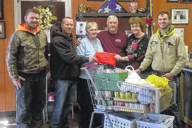 Pictured are apprentices of the Lima Electrical Professionals who donated food and money this holiday season to the Veterans Food Pantry of Northwest Ohio.