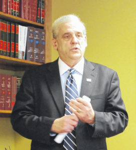 Huffman makes it official; he's a candidate for judge