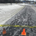 Orange snow visible after Husky Refinery incident