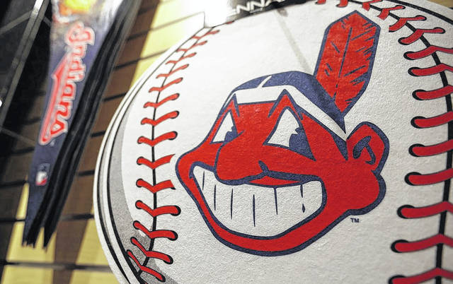 50fc6aa379c8a A Chief Wahoo logo is shown on a baseball at the Cleveland Indians team  shop on