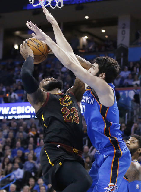 James' 37 lead Cavaliers past Thunder 120-112