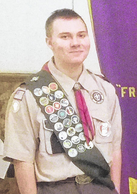 Codey Ewing, a sophomore at Elida high school, was recently named Boy Scout of the Year.