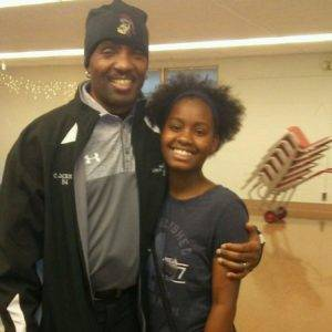 Lima Fire Inspector Chris Jackson and De'Oshanic Petaway pose for a photo. Provided by Youth Service America