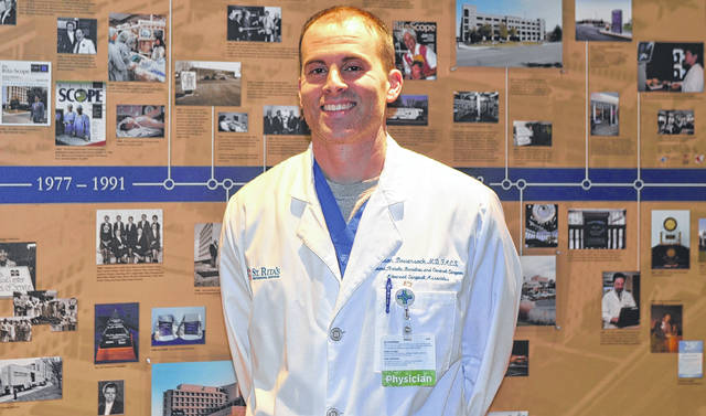 Dr. Jason Bowersock is a Spencerville native who returned to the region to become a doctor at Mercy Health-St. Rita's.