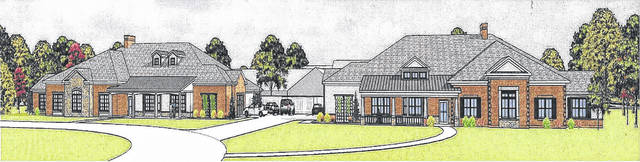 This rendering shows how the Green House Project expansion will look upon completion at Lima Convalescent Homes.
