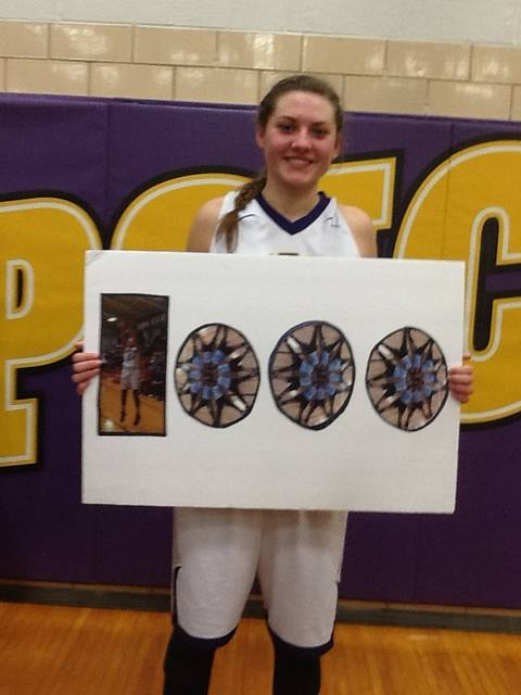 Leipsic's Heather Lammers reached 1,000 points for her varsity career in the Vikings' 57-21 win Thursday night against Cory-Rawson.