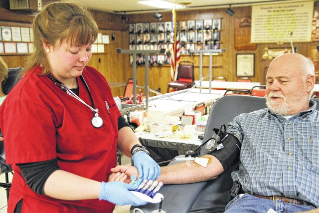 The American Red Cross routinely hosts a donation center in Spencerville, including this January 2017 visit to the American Legion.