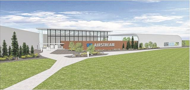 An initial rendering shows how Airstream's new 750,000 square-foot facility will look upon completion.