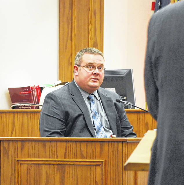 Greg Adkins, crime scene investigator with the Lima Police Department, testified Tuesday in the murder trial of 20-year-old Lima resident Cory Jackson.