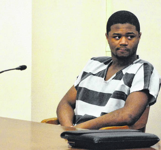 J Swygart | The Lima News  Jayleontre Harris, 19, of Lima, appeared in Allen County Common Pleas Court Tuesday for a final pre-trial in his aggravated murder case. Harris is charged in the May 2016 shooting death of Lima resident Eric Staup.