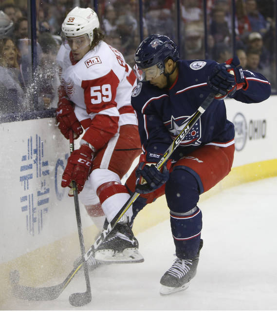 Jones Scores Twice, Surging Blue Jackets Beat Red Wings 3-2