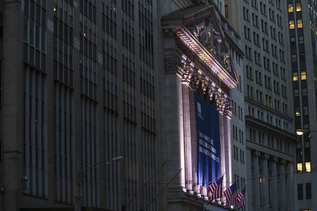 FILE - This Oct. 25, 2016, file photo shows the New York Stock Exchange in Lower Manhattan. The U.S. stock market opens at 9:30 a.m. EST on Monday, March 12, 2018. (AP Photo/Mary Altaffer, File)