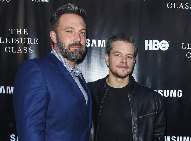 "Ben Affleck, left, and Matt Damon attend the ""Project Greenlight"" premiere of ""The Leisure Class"" in Los Angeles in 2015. Damon, Affleck and Paul Feig are jumping on the inclusion rider bandwagon following Frances McDormand's Oscar acceptance speech."