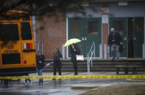 Teen shoots girl in Maryland school, killed in confrontation