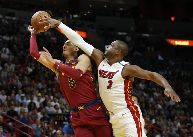 Not today! See Dwyane Wade swat LeBron James' shot to the stands