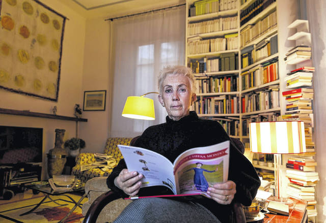 """Lucetta Scaraffia, editor in chief of """"Donne, Chiesa, Mondo"""" (Women, Church, World), poses for portraits in her house in Rome last month. The March edition of the monthly magazine of the Vatican newspaper L'Osservatore Romano is denouncing how nuns are treated like virtual slaves by cardinals and bishops, forced to cook, clean and tend to their needs for next to no pay."""
