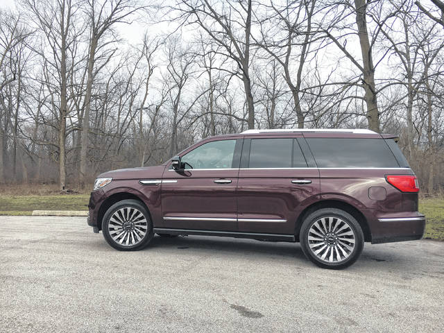 Redesigned 2018 Lincoln Navigator AWD in Reserve trim pictured in Cook County, Ill., in February 2018.