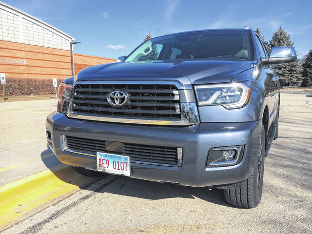 The refreshed 2018 Toyota Sequoia is largely a technology update to the full-size three-row SUV last redesigned for 2008.
