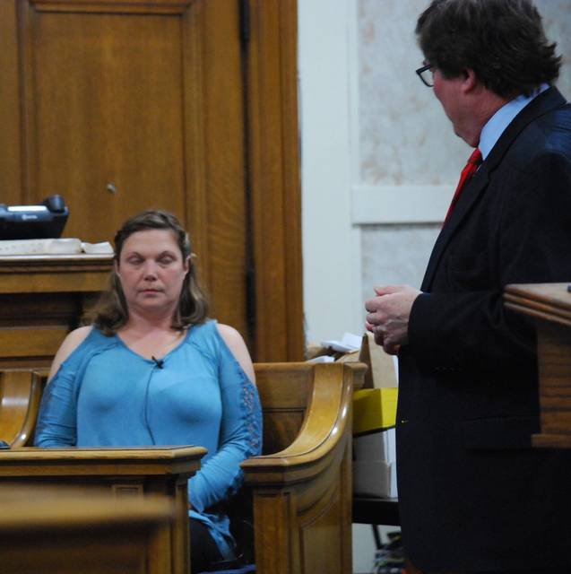 J Swygart   The Lima News  Danielle Sheldon took the witness stand Wednesday in the Hardin County trial of her former husband, Tony Sheldon, who is charged with attempting to get another person to burn down the home of his ex-wife.