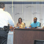 Members of the Lima community meet to discuss police complaints