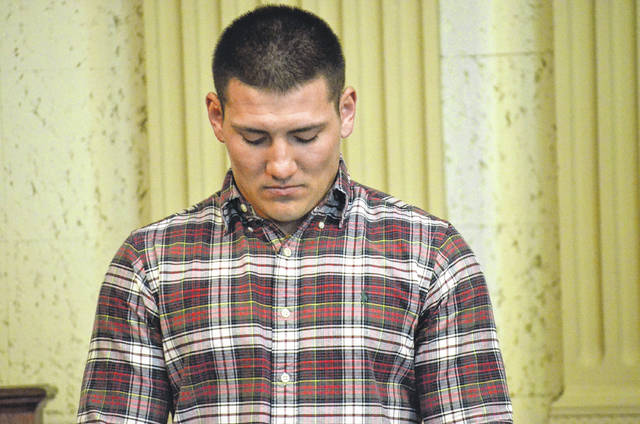 Jacob Rader, of Leipsic, was arraigned on one count felonious assault, a second-degree felony, at the Putnam County Common Pleas Court Thursday. Rader allegedly caused serious physical harm to Brandt Landin on Oct. 14, 2017, at the Buckeye Club in Miller City.