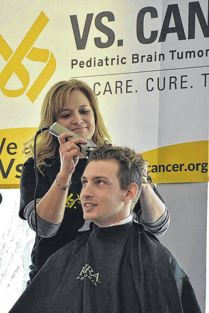 Brayden Rutter has taken part in Bluffton University's head shaving fundraiser for four years. Submitted photo