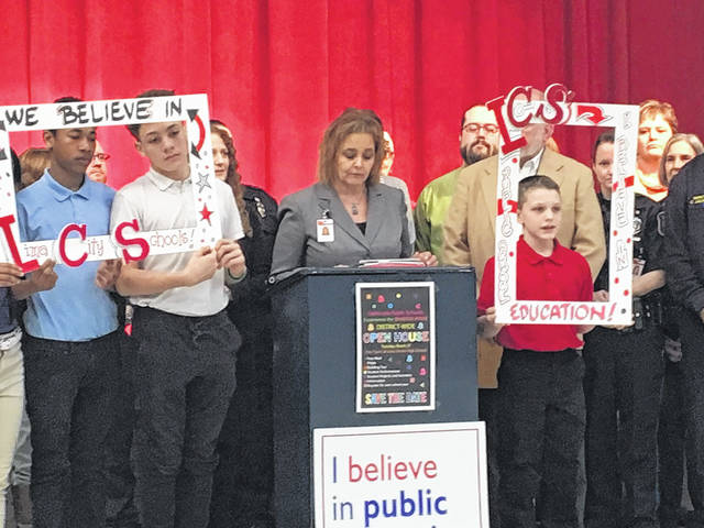 "Lima schools superintendent Jill Ackerman announces ""Celebrate Public Schools: Experience the Spartan Pride."" All Lima schools buildings will be holding activities to celebrate."