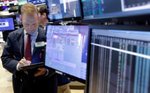 US stocks wobble and bond yields set four-year highs