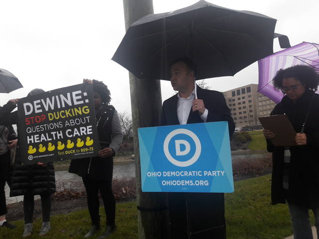 Ohio Democratic Party Chairman David Pepper wants to know why DeWine hasn't been said whether he supports Ohio's Medicaid expansion.