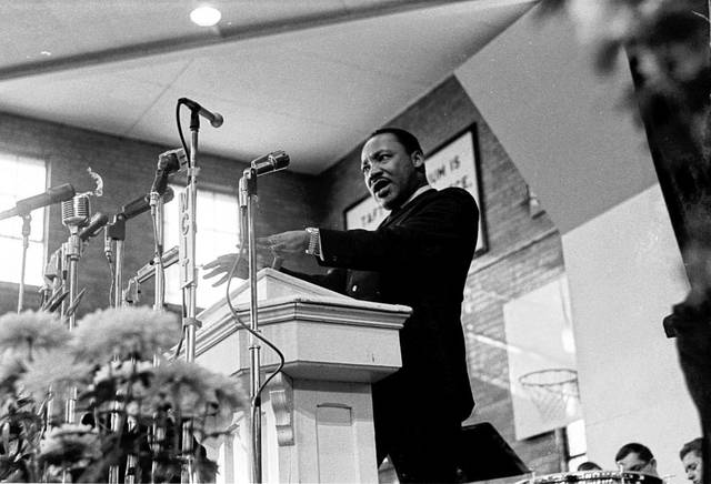 Dr. Martin Luther King Jr. spoke at Ohio Northern University on January 11, 1968. A statue marking the occasion will be dedicated on April 17.