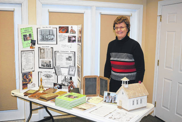 Author Myrna Grove spoke about the Legacy of One-Room Schools Sunday at Maple Crest Senior Living Village in Bluffton.