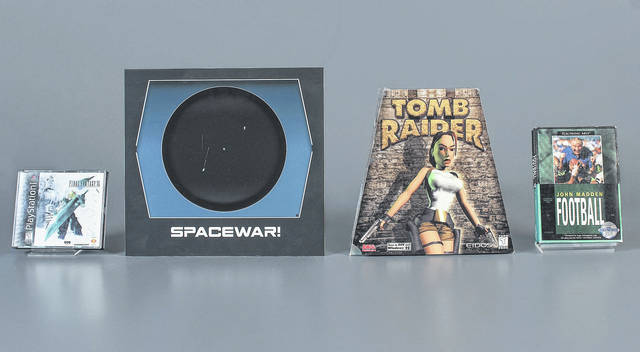 """The Strong Museum in Rochester, N.Y., announced the 2018 inductees to the World Video Game Hall of Fame. They are, from left, """"Final Fantasy VII"""", """"Spacewar!,"""" """"Tomb Raider"""" and """"John Madden Football."""""""