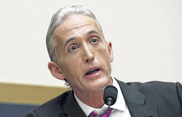 FILE - In this Nov. 14, 2017 file photo, Rep. Trey Gowdy, R-S.C., questions Attorney General Jeff Sessions during a House Judiciary Committee hearing on Capitol Hill in Washington. The FBI acted properly in its investigation of contacts between President Donald Trump's 2016 campaign and Russia, according to Gowdy, who recently received a classified briefing about the origins of the FBI probe.