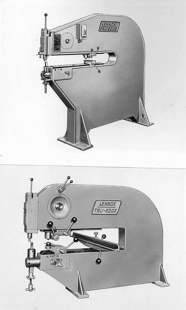 The Lennox-built MetlMastr was a machine that worked sheet metal.