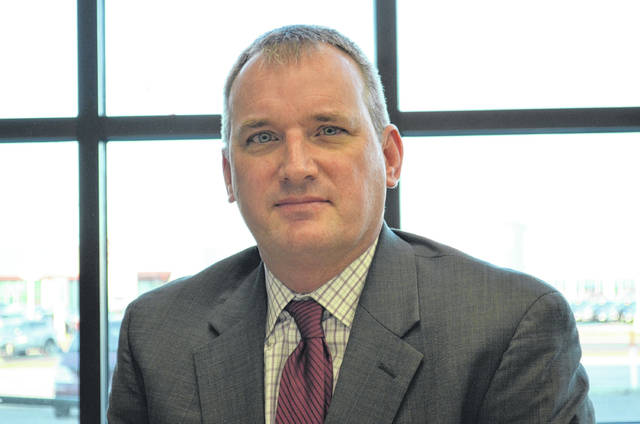 Bryan Reynolds | The Lima News Tom Liebrecht is running against Rep. James Hoops (R) for the 81st Ohio House District seat during the primary election. Liebrecht said this is the first time he has run for office and beleives his outsider perspective will be a bennefit representing the people of the 81st district.
