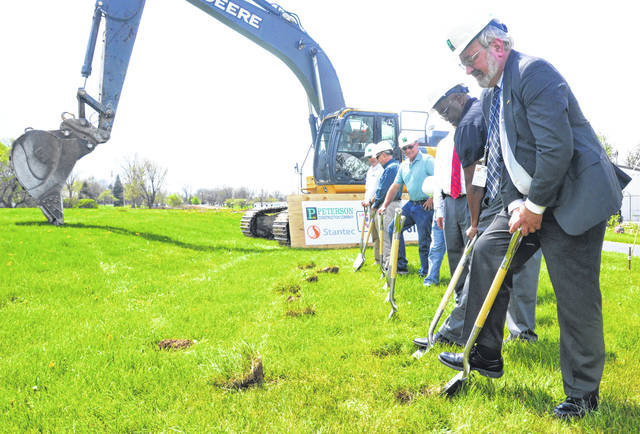 Mayor David Berger and other officials broke ground on the project Friday.