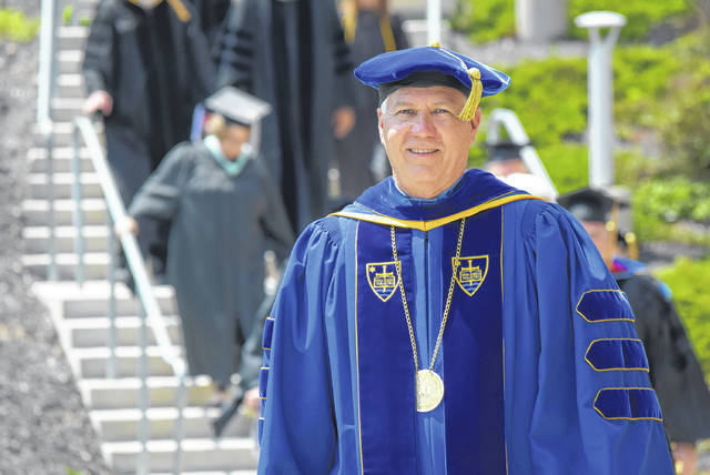 Dr. James Harder is set to retire and the end of June. Sunday's commencement at Bluffton University would be his last as president.