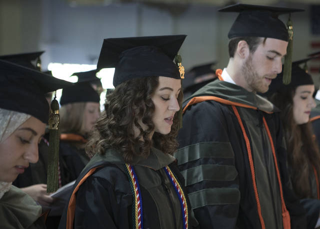 The 133rd annual pharmacy commencement was held at Ohio Northern University for 154 graduating students.