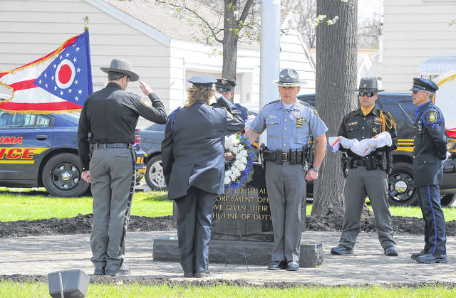 Representatives from several area law enforcement agencies gathered for the 26th Annual Fraternal Order of Police Lodge #21 Memorial Service on Wednesday to honor officers who have died in the line of duty.