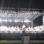 America on stage during Lima Area Concert Band's concert
