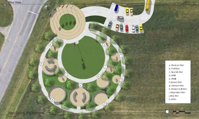 "Concept ""A"" is an early rendering of a possibility for the memorial. Of the three early concepts, ""A"" is closest to the final design."