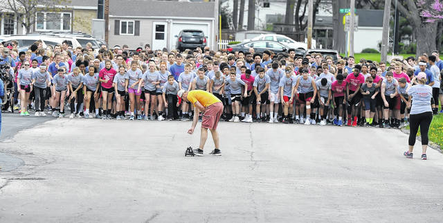 Runners get set for the Positive Addiction Run/Walk on Friday.