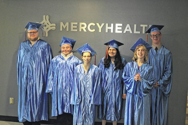 Project Search graduates for 2018 include from left to right, Peyton Cottle, Justin Rader, Katelyn Marr, Gabriella Ciminillo, Morgan Rieman and Logan Stratton.