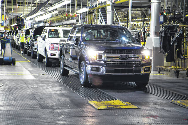 The first Ford F-150 truck rolls off the line Friday morning at the Dearborn Truck Plant. The assembly line restarted after just over a week of downtime following a supplier fire. F-150 production is targeted to restart at Kansas City Assembly Plant on Monday as well. The Ford team also has successfully repaired the Super Duty supply chain, with production slated to begin at Kentucky Truck Plant by Monday as well.